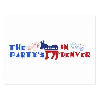 Convenção Democrática Denver 2008 cartões DNC