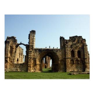 Convento de Tynemouth, cartão de Inglaterra