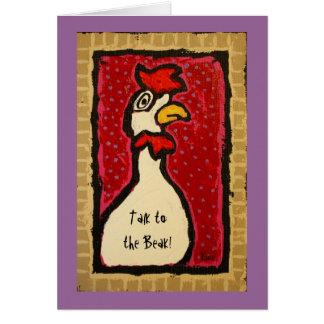 Conversa ao cartão do bico