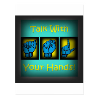 Conversa com suas mãos (2) cartoes postais