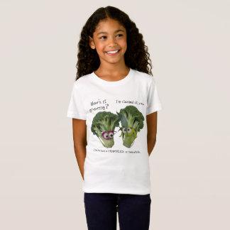 Conversa engraçada dos brócolos camiseta
