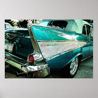 Convertible 1957 do Bel Air de Chevrolet Poster