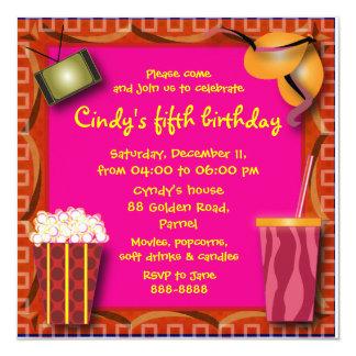 Convite 038 do aniversário de criança: Pipoca &