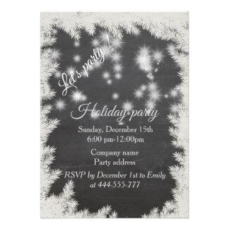 Convite 12.27 X 17.78cm Festa natalícia incorporada do quadro Sparkling