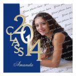 Convite 2014 da graduação da foto do azul e do our