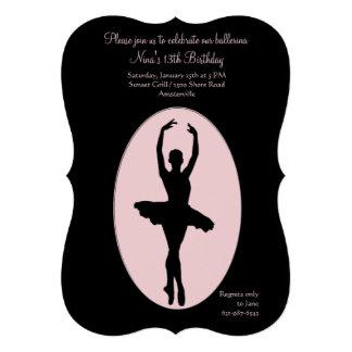 Convite 2 da bailarina do lugar central