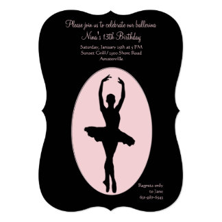 Convite #2 da bailarina do lugar central