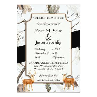 Convite 2 do casamento da camuflagem dos cervos do