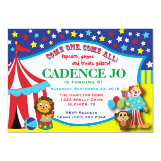 Convite 2 do circo