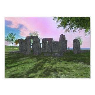 Convite 5x7 da poesia de Stonehenge do culto do