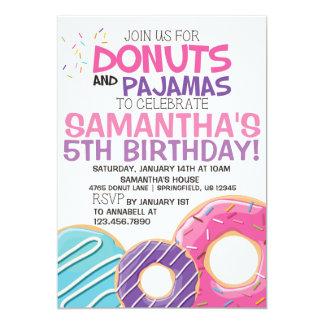 Convite | 5x7 do aniversário das rosquinhas & dos