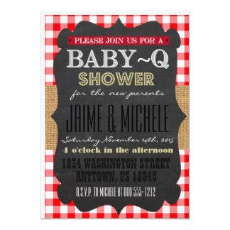 Convite 5x7 do Bebê-q