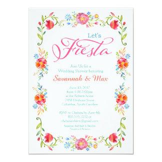 Convite 5x7 do chá de casamento das flores de