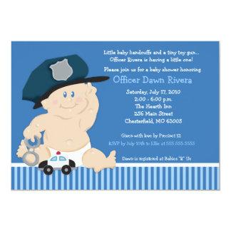 Cartão Convite 5x7 do chá de fraldas da bobina do AGENTE
