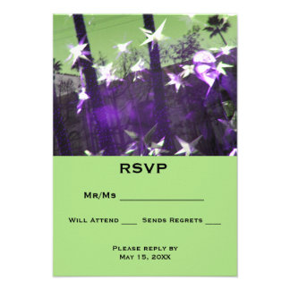 Convite 9.52 X 12.7cm Abstrato das árvores e das estrelas de RSVP