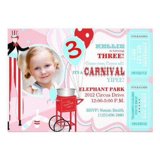 Convite A7-PKRD do aniversário do tema do carnaval