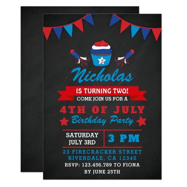 Convite A Festa De Aniversário Do Dia Da Independência Do Zazzle