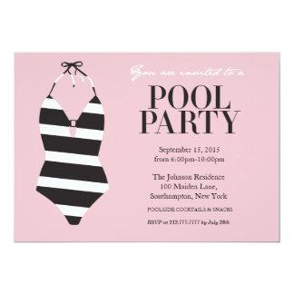 Convite à moda da festa na piscina