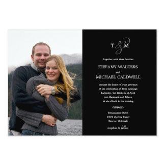 Convite à moda da foto do casamento do Ampersand