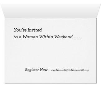 Convite à mulher dentro do fim de semana
