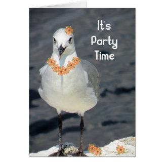 Convite a um partido com gaivota & flores