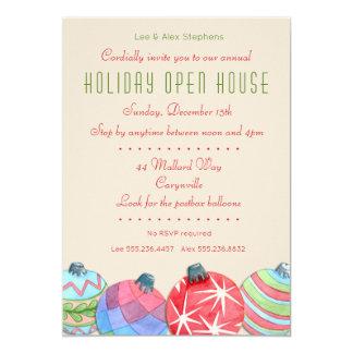 Convite aberto da festa em casa do feriado do