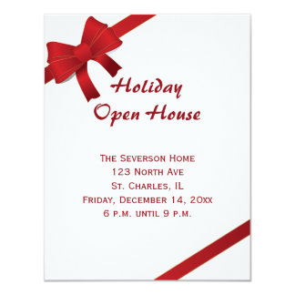 Convite aberto da festa em casa do feriado dos