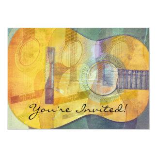 Convite abstrato da guitarra acústica