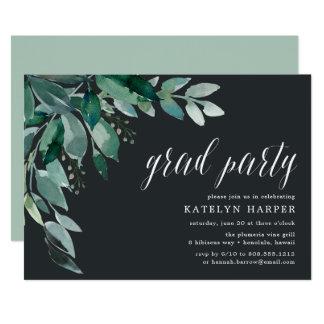 Convite abundante da festa de formatura da folha  