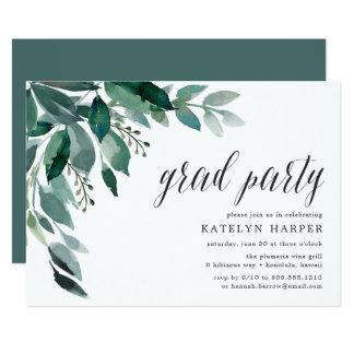 Convite abundante da festa de formatura da folha |