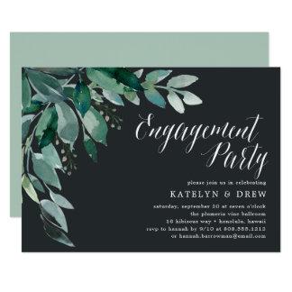 Convite abundante da festa de noivado da folha |