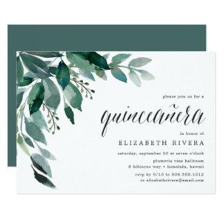 Convite abundante da folha   Quinceanera