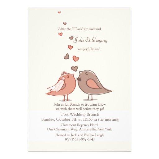 Convite acoplado da refeição matinal do casamento