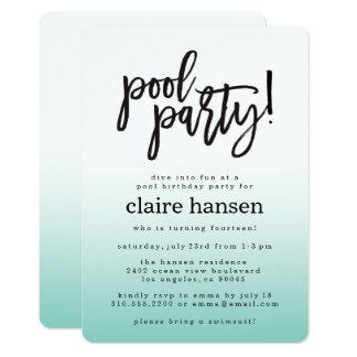 Convite adolescente à moda do aniversário da festa