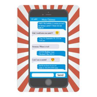 Convite adolescente do aniversário de Smartphone