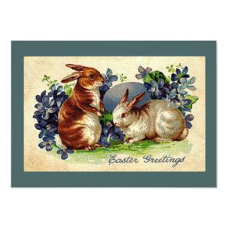 Convite adorável da páscoa dos coelhos