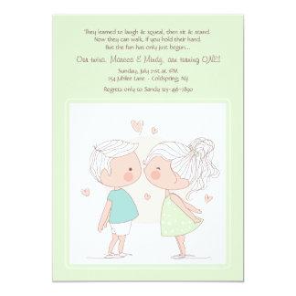 Convite adorável dos gêmeos