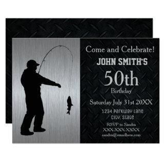 Convite adulto áspero do aniversário da pesca