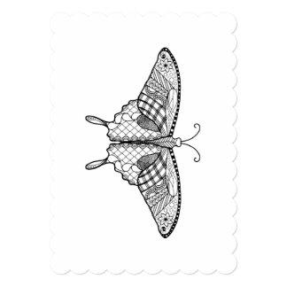 Convite adulto da borboleta 5x7 da coloração