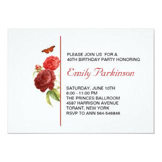 convite adulto do aniversário convite 12.7 x 17.78cm