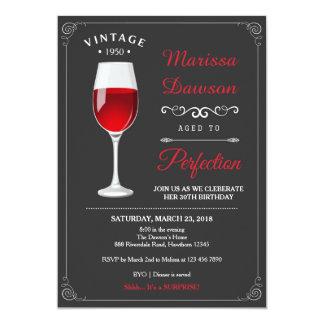 Convite adulto do aniversário/convite do vinho
