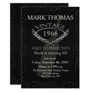 Convite adulto do aniversário - envelhecido à