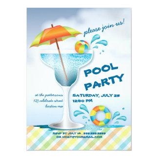Convite adulto do cocktail do verão da festa na