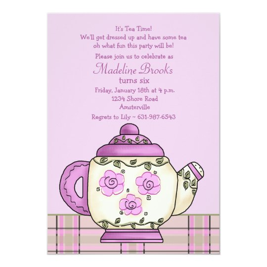 Convite afternoon tea birthday party invitation zazzle convite afternoon tea birthday party invitation stopboris Images