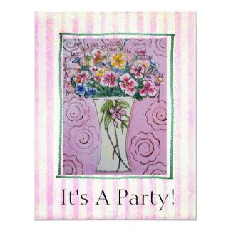 Convite alegre do cartão do partido do elogio