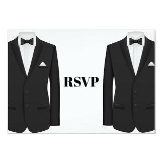 Convite alegre RSVP do casamento do smoking