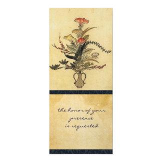 Convite alto do pergaminho japonês do vintage