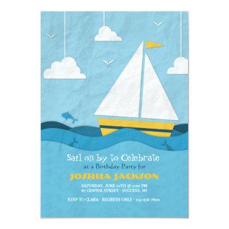 Convite amarelo #2 do veleiro
