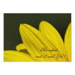 Convite amarelo da festa de noivado da pétala do convite 12.7 x 17.78cm
