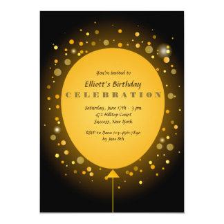 Convite amarelo do balão